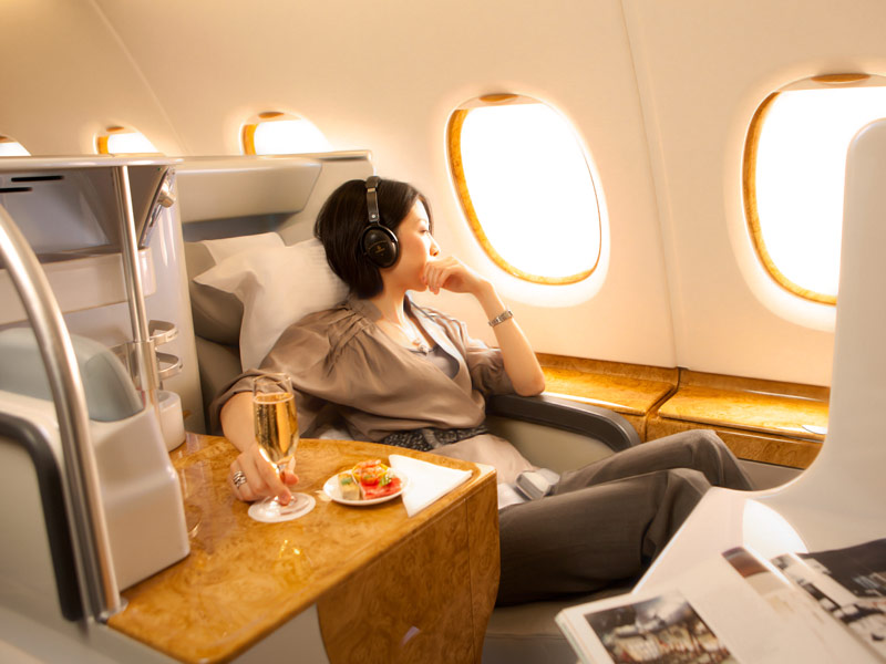 Fully flat Bed on the A380 in Business class