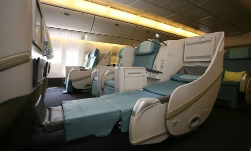 korean air business class seat